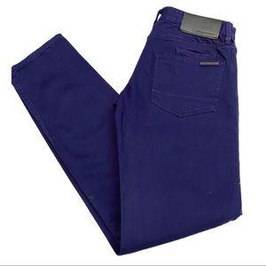 Armani Exchange Indigo Slim Designer Denim Jeans